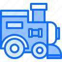 child, childhood, kid, locomotive, toy, train icon