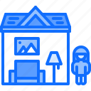 child, childhood, doll, house, kid, toy icon