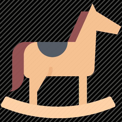 Child, childhood, horse, kid, rocking, toy icon - Download on Iconfinder