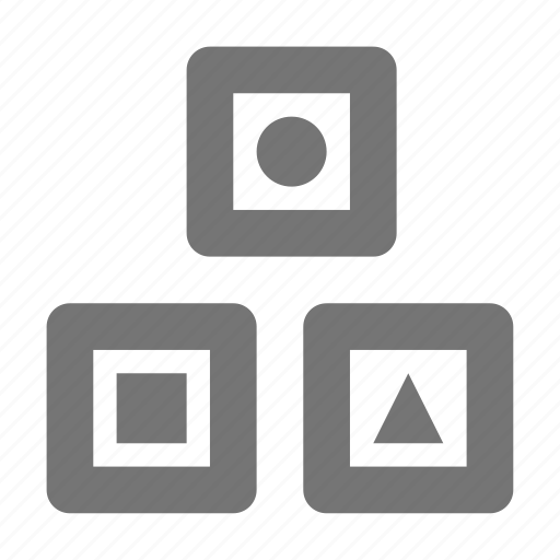 blocks, shapes, toy icon