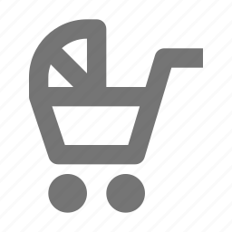 stroller, tram, trolley icon