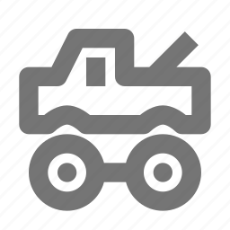 toy, truck icon
