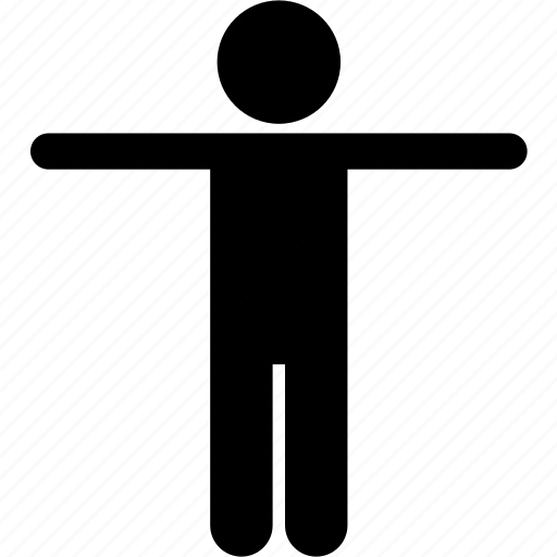 arms, body, child, hands, kid, spreading, standing icon