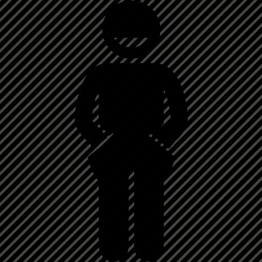 child, hand, kid, pocket, positive, standing icon