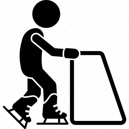 beginner, children, ice skating, kid, learning, skating icon