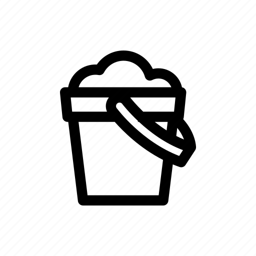 baby, bucket, children, infant, play, sand, toy icon
