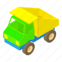 toy, container, car, truck, vehicle, cartoon, transport