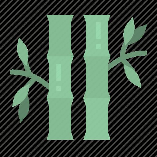 bamboo, botanical, china, garden, plant icon