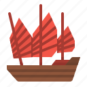 boat, china, cruise, ship, transportation icon