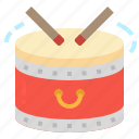 china, drum, drumsticks, musical, percussion icon