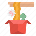box, chinese, hot, noodle, ramen icon