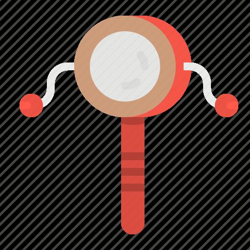 drum, multimedia, music, musical, rattle icon