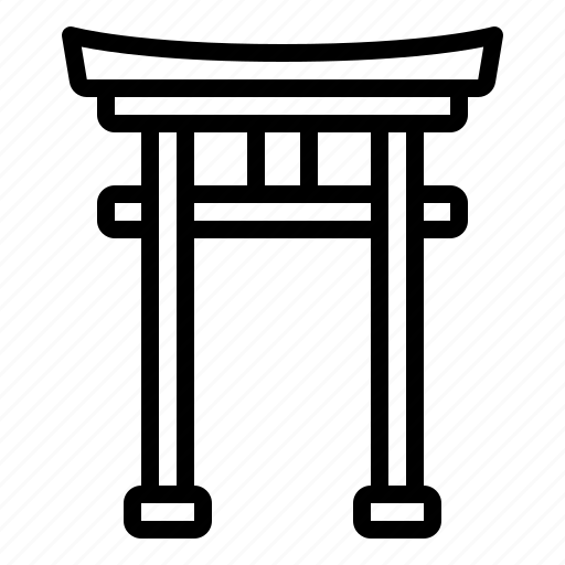 china, gate, landmark, torii, traditional icon