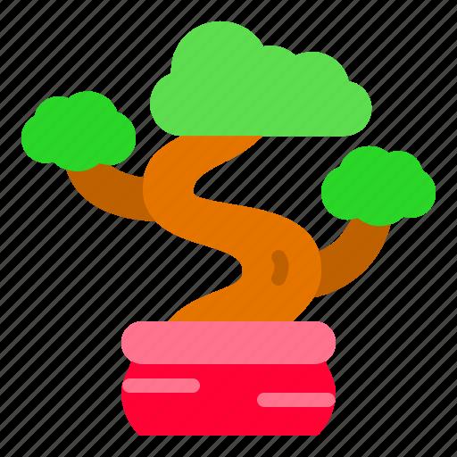 bonsai, china, pot, small, tree icon