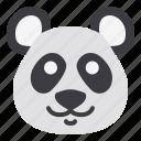 animal, china, cute, head, panda