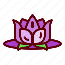 beauty, flower, lotus, river, water icon