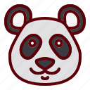animal, china, cute, head, panda icon