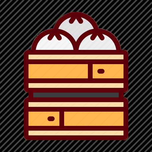 china, dumpling, food, hot, traditional icon
