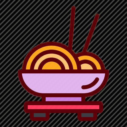 bowl, copstick, food, noodles, rament icon