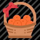 basket, chinese, fruit, orange icon
