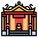 architecture, building, chinese, shrine icon