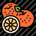 chinese, fruit, lemon, orange