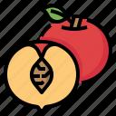 chinese, fruit, new, peach, year