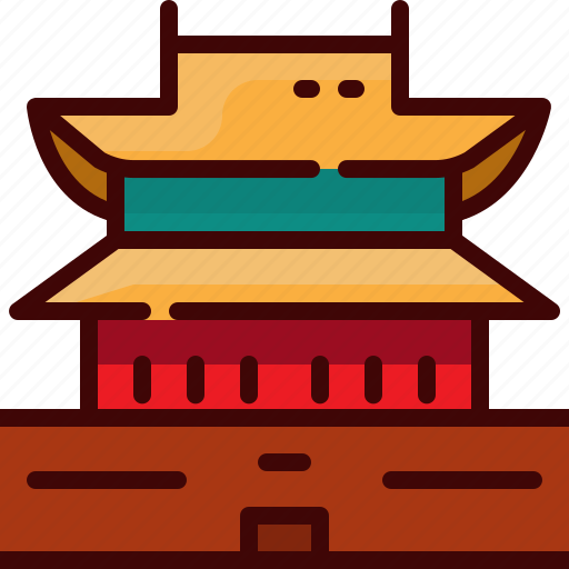 china, landmark, square, tiananmen icon