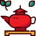 china, drink, pot, tea icon