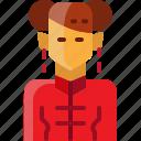 avatar, china, woman icon
