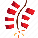china, firecracke, party icon