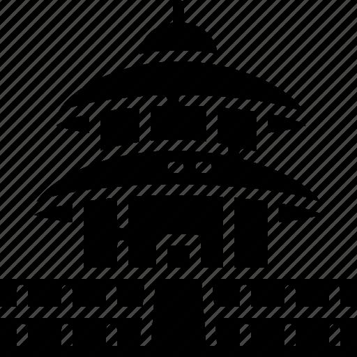 architecture, building, china, landmark, temple of heaven icon