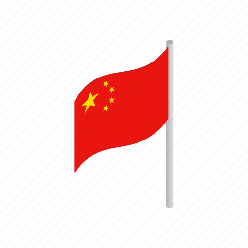 china, chinese, country, flag, isometic, nation, national icon