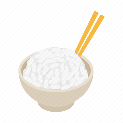 asian, chinese, cuisine, food, healthy, isometic, rice icon