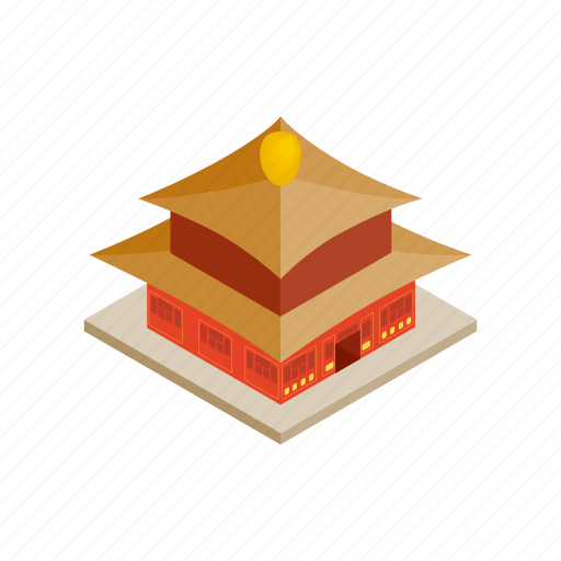 architecture, building, china, chinese, culture, isometric, temple icon