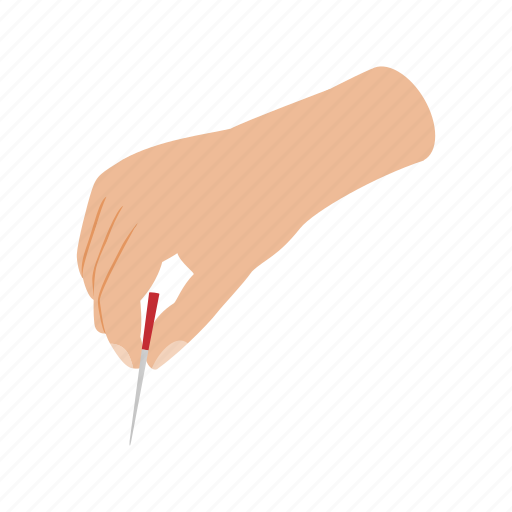 acupuncture, chinese, isometric, needle, patient, people, therapy icon