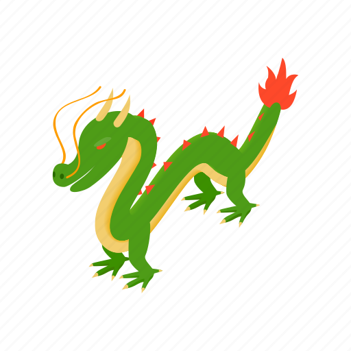 asia, china, chinese, culture, dragon, isometric, traditional icon