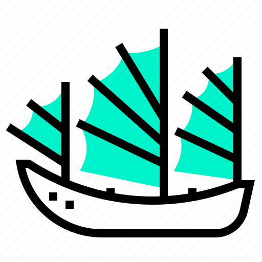 boat, chinese, junk, ship icon