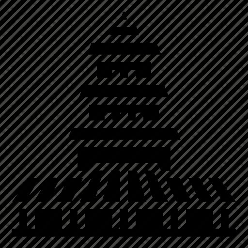 building, china, goose, pagoda, wild icon