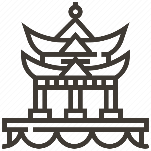architecture, building, china, chinese icon