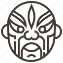 china, chinese, face, mask icon