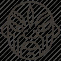 china, chinese, face, mask icon