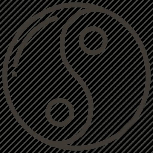 china, chinese, symbol, yin yang icon