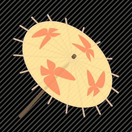 cartoon, design, handle, japanese, protection, rain, umbrella icon