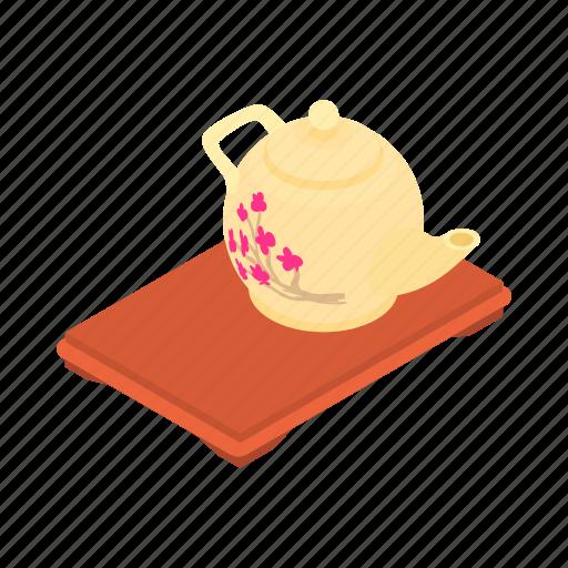 cartoon, drink, kettle, kitchen, tea, teapot, tray icon