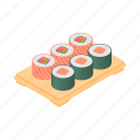 asian, cartoon, fish, food, restaurant, sushi, tray icon