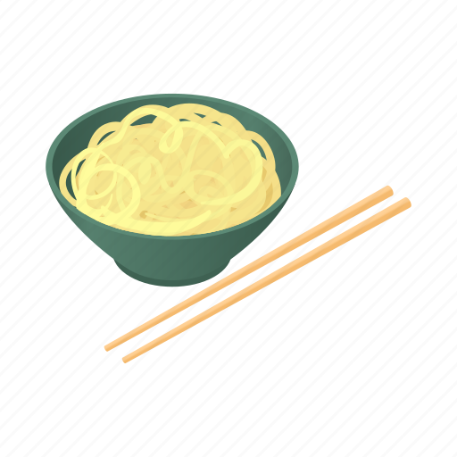 cartoon, chinese, chopsticks, cuisine, food, meal, noodles icon