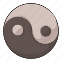 cartoon, tao, taoism, yan, ying, ying yang, yinyang icon