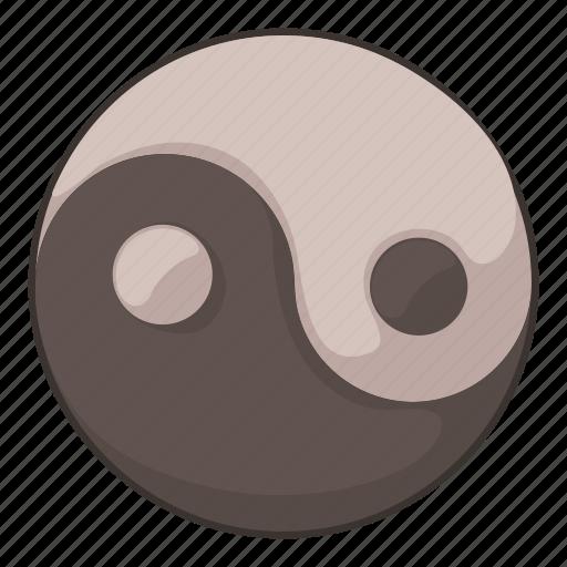 cartoon, tao, taoism, yan, ying, ying yang, yinyang icon