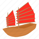 cartoon, chinese ship, etching, history, hong, ship, travel icon